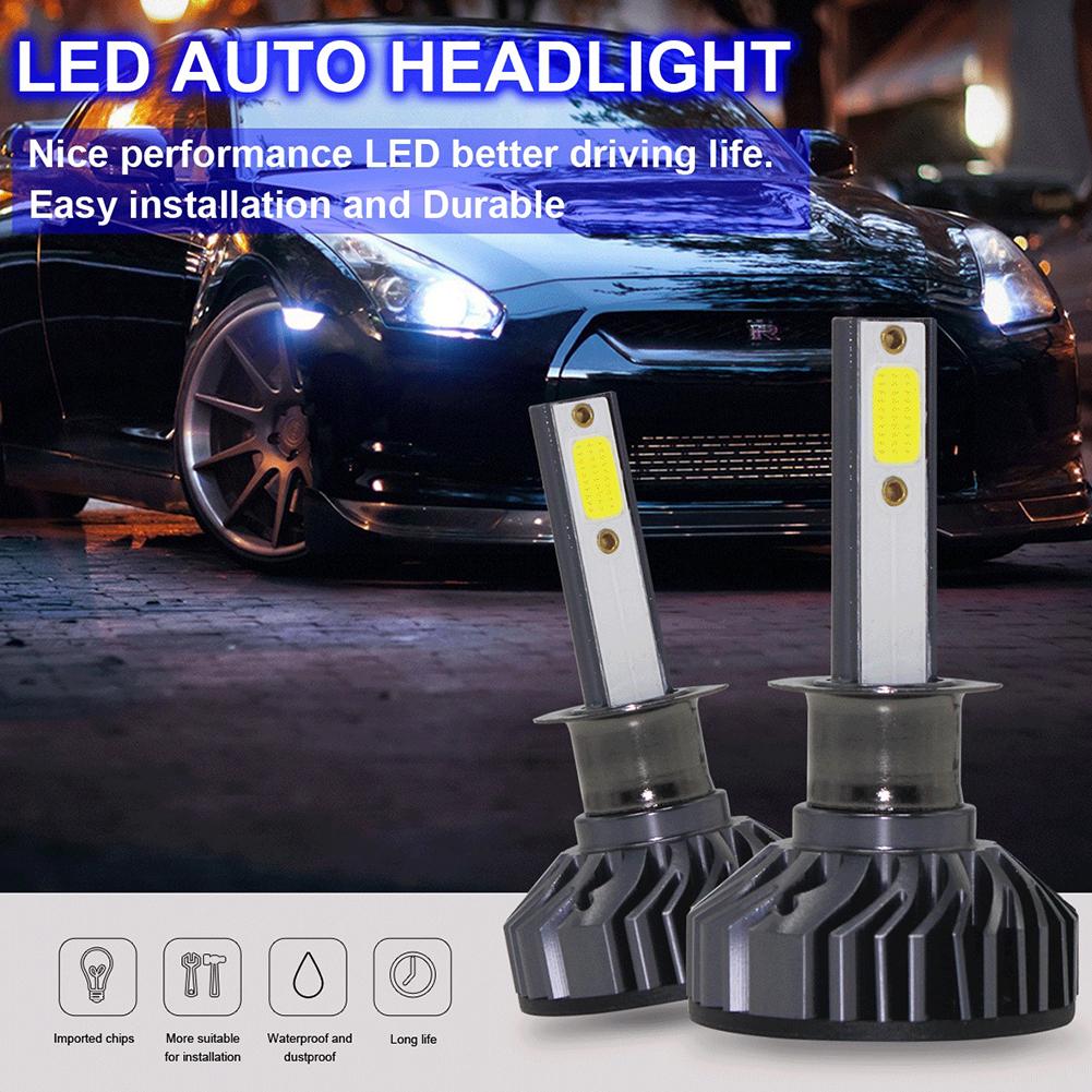 2pcs/set EV8 120W 8000LM 6500K Mini Super Bright H1 6K Headlight Bulb 6500K white_H1