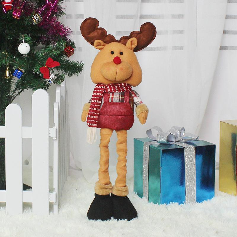 Christmas Telescopic Doll Cute Cartoon Festival Decorations Elk