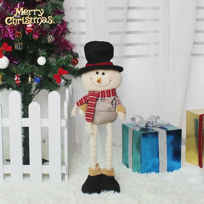 Christmas Telescopic Doll Cute Cartoon Festival Decorations Snowman