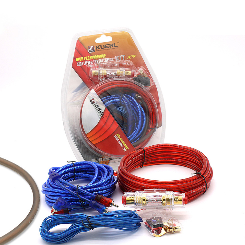 Car Audio Speakers Wiring kits Cable Amplifier Subwoofer Speaker Installation Wires Kit 10GA Power Cable 60 AMP Fuse Holder 10GA power amplifier line