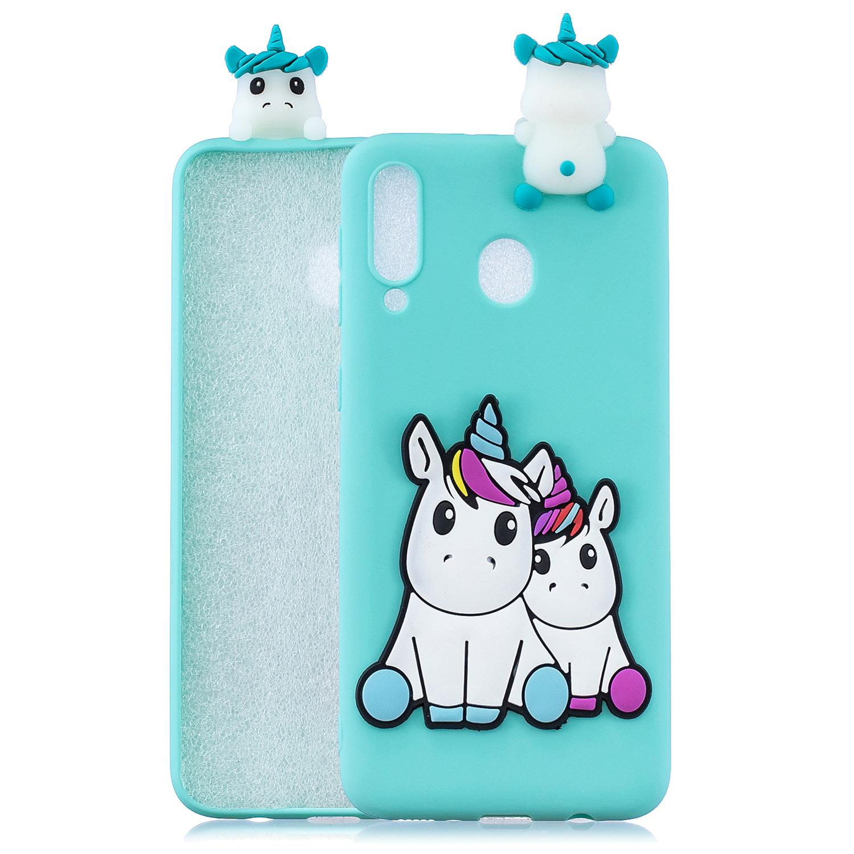 For Samsung A10S/A20S Phone Cover 3D Patch Soft TPU Cartoon Smart Phone Shell Anti-fall Anti-scratch Cellphone Coat Samsung A10S