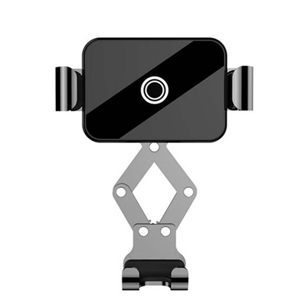 Car Gravity Mute Automatic Clamping Firm Mobile Phone Holder Bracket black