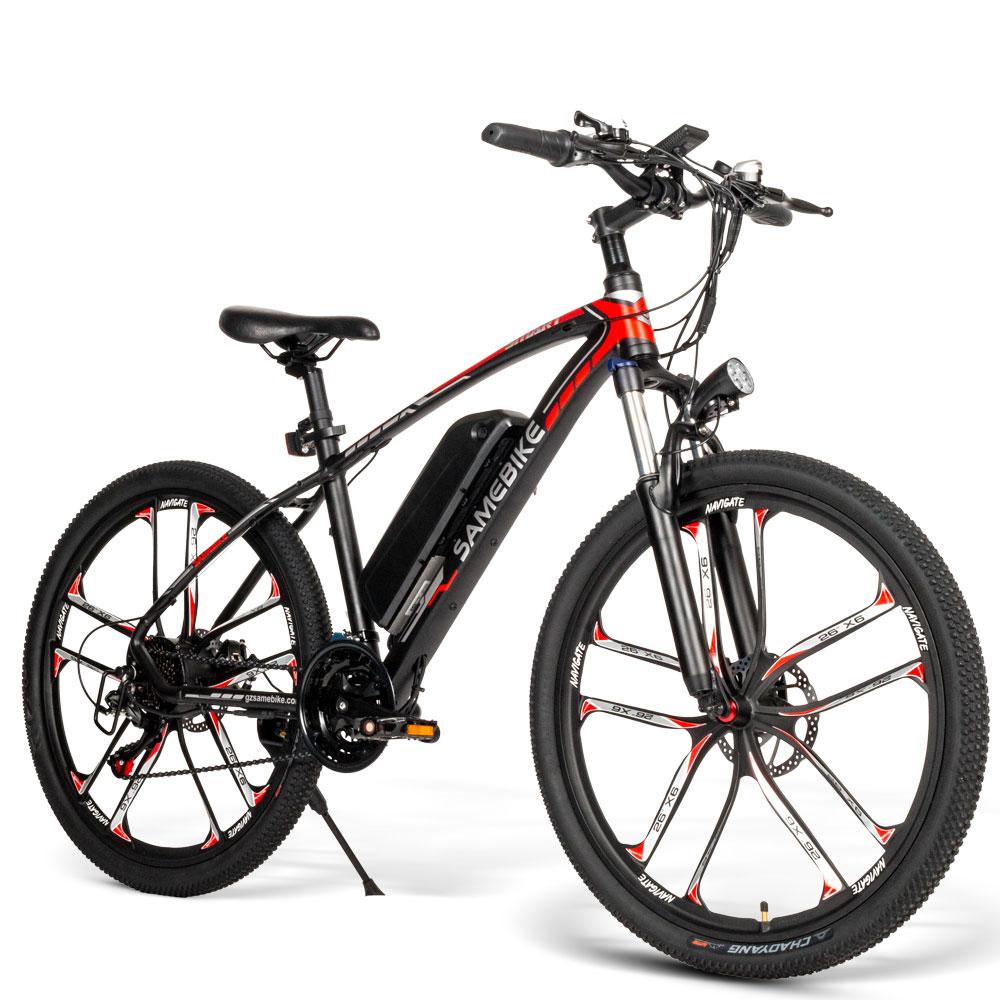 Samebike MY-SM26 Smart Folding Electric Bike with LCD Display Red black