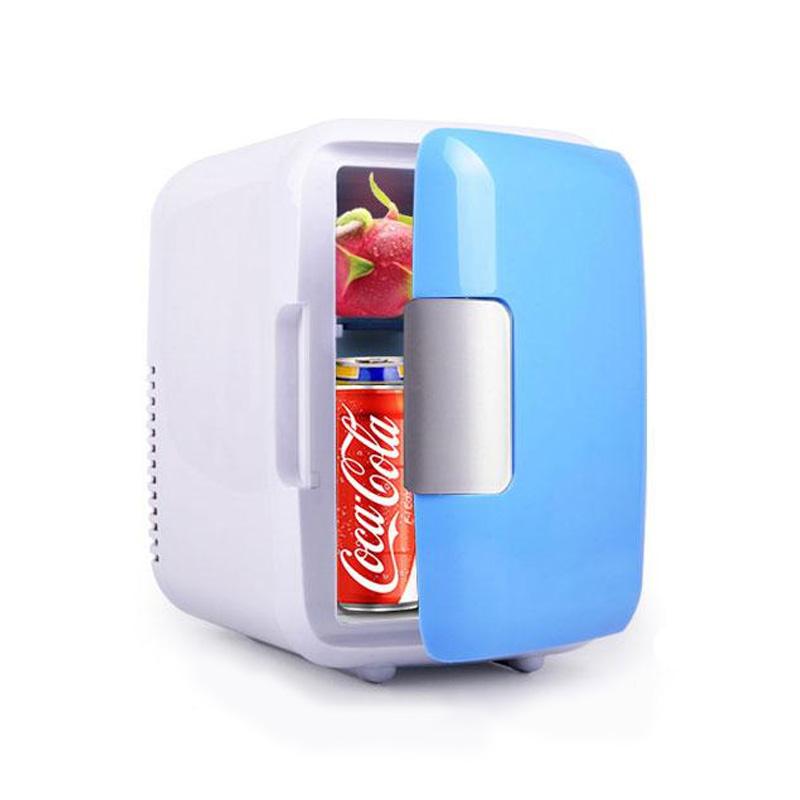 4L Car Refrigerator Automoble Mini Fridge Refrigerators Freezer Cooling Box frigobar Food Fruit Storage Fridge Compressor white_Car