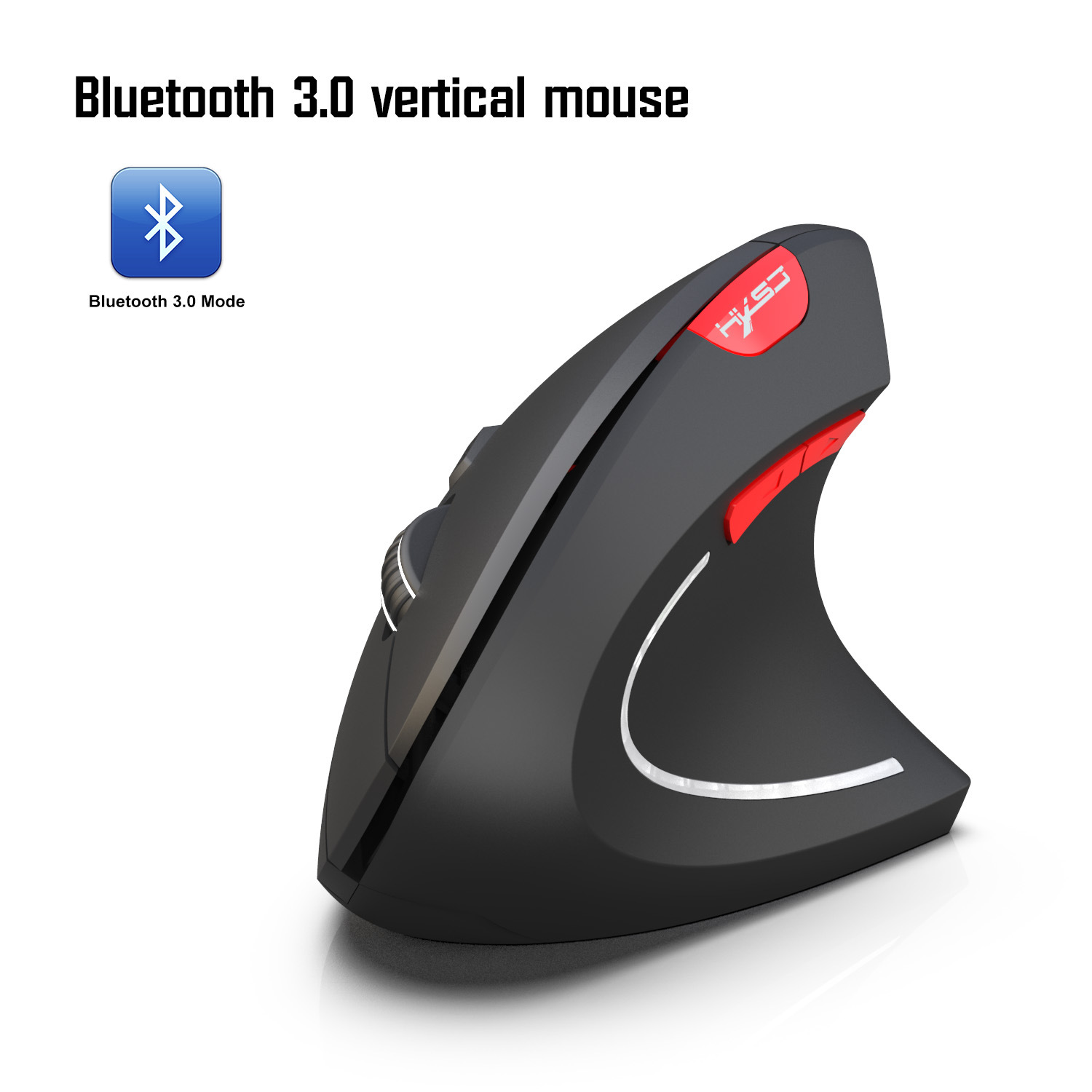 Bluetooth Vertical Mouse Ergonomics 800/1600/2400DPI Prevention Mouse Hand Game Office Mouse PC Notebook Accessories black