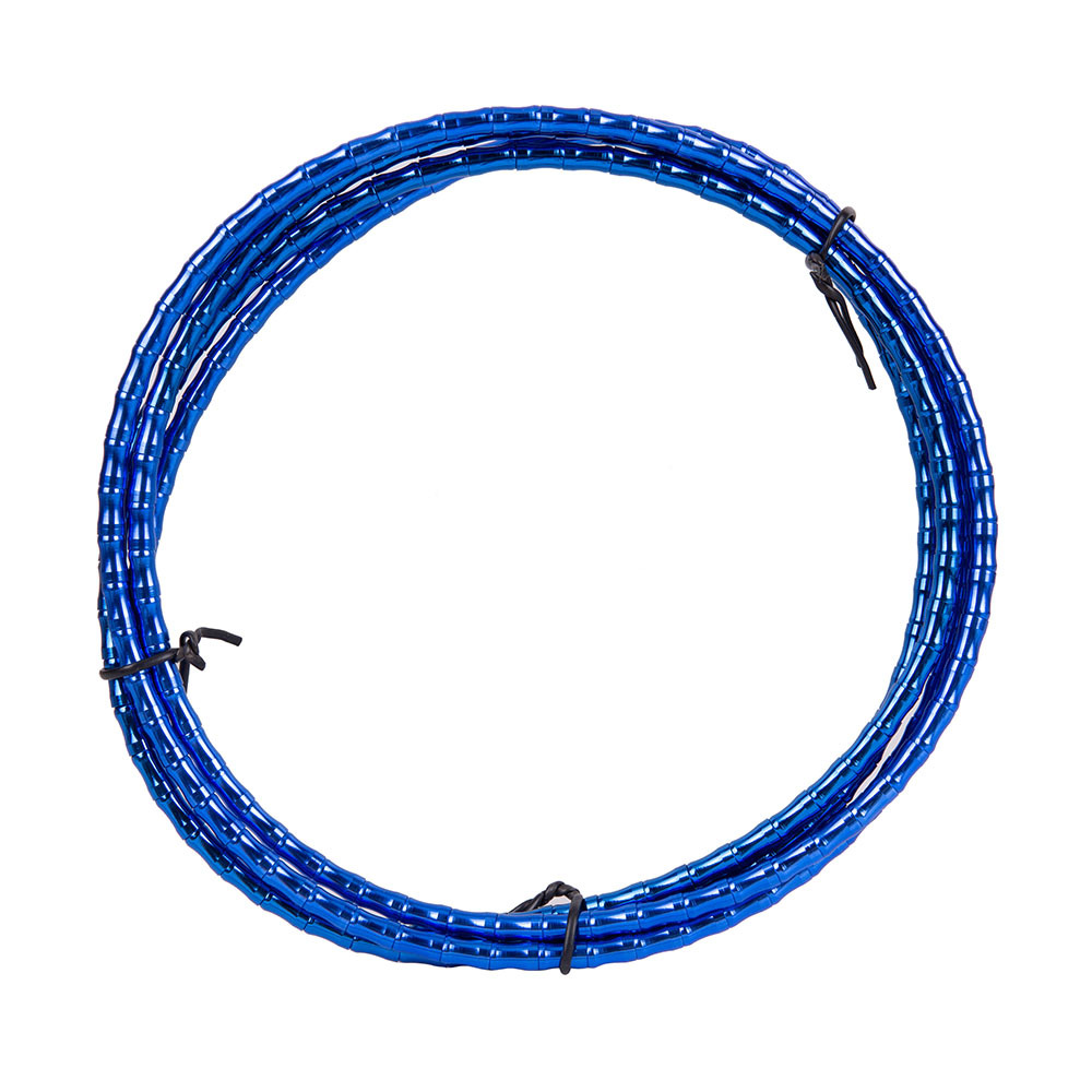 ZTTO MTB Floding Road Bike Bicycle CNC Bamboo Brake Line Cover Elite Aluminum Alloy Links Mountain Shift Cable Hose 1.8m Tube Blue