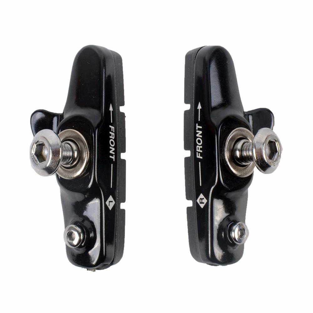 Aluminum Alloy Road Bike Brake Block C brake Fixed Cog Silent Brake Block Piece Water Guide Rubber Brake Piece Bicycle Accessories black