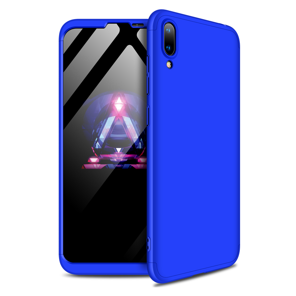 For HUAWEI Y7 2019 Ultra Slim PC Back Cover Non-slip Shockproof 360 Degree Full Protective Case blue