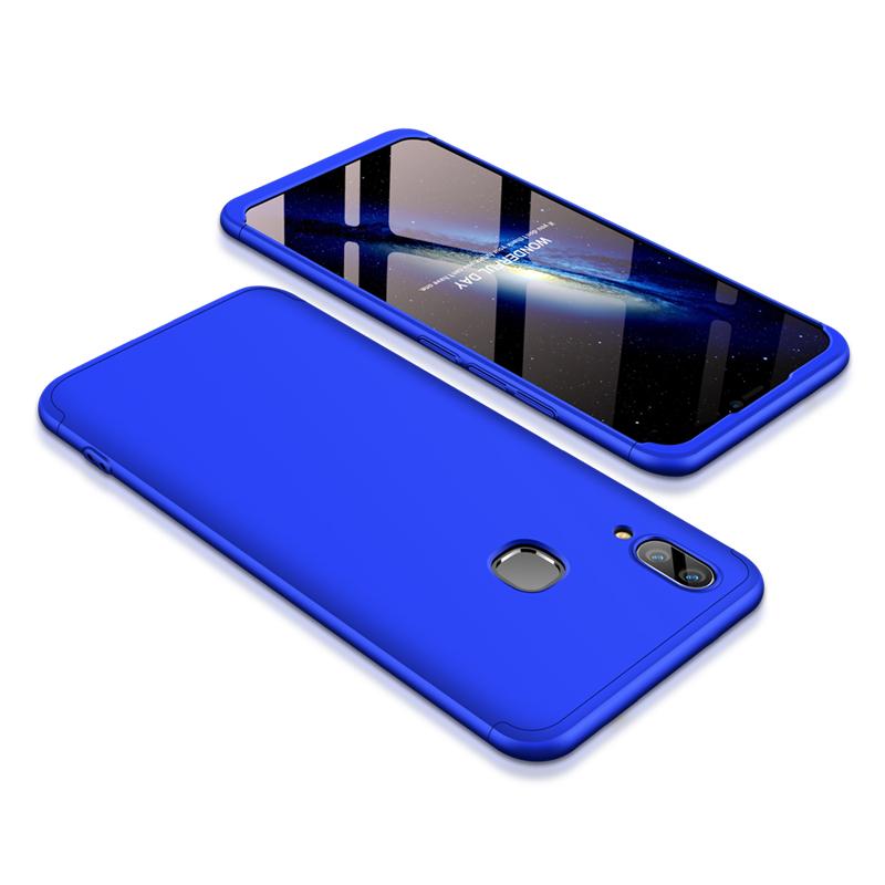 For VIVO V9/Y85/Z1 Slim 3 in 1 Hybrid Hard Case Full Body 360 Degree Protection Back Cover blue