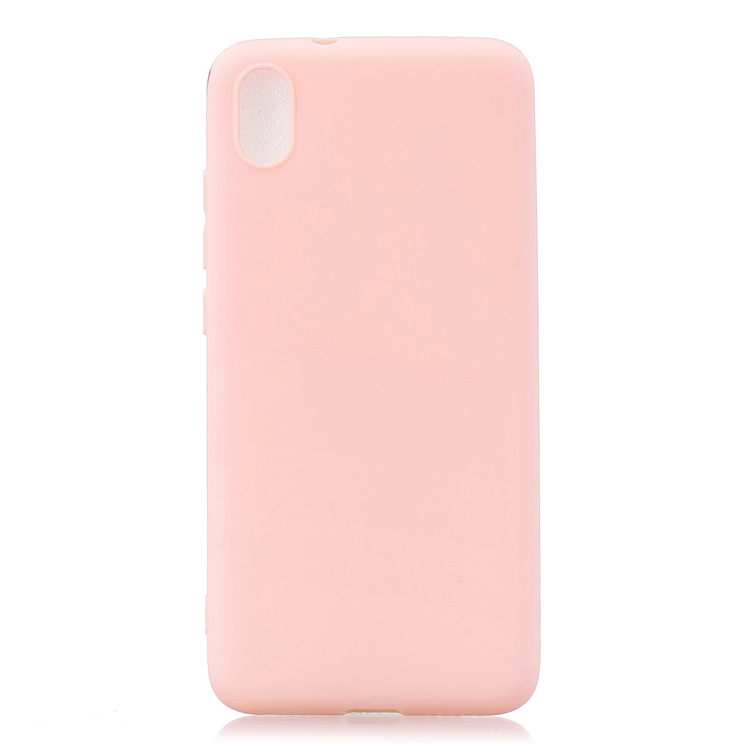For Redmi 7A Lovely Candy Color Matte TPU Anti-scratch Non-slip Protective Cover Back Case Light pink