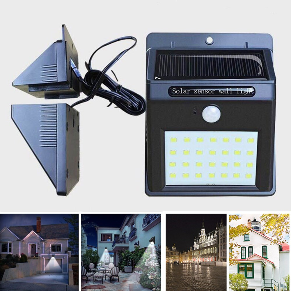 28 LED Intelligent Human Body Induction Lamp Solar-Powered Garden Lamp White light