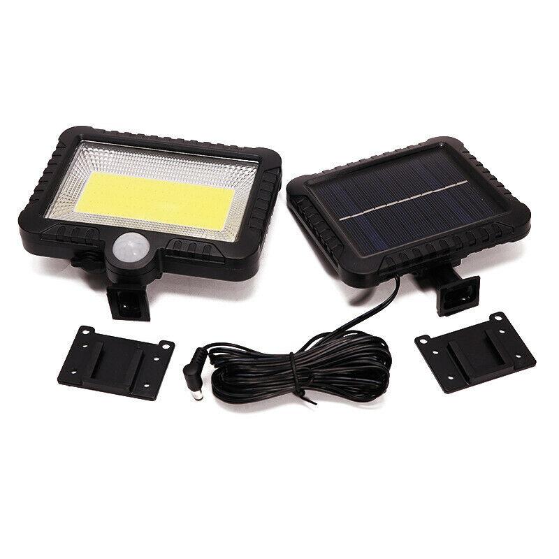 100 LED Solar Power Motion Sensor Outdoor Garden Light Security Flood Lamp Split COB100 lamp walking light (including 5 meters extension cord)