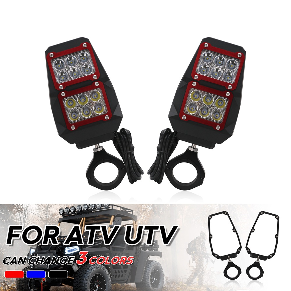 1 Pair Car Rear Mirror Light Professional Atv Rear Mirror With Led Lights For Yamaha As picture show
