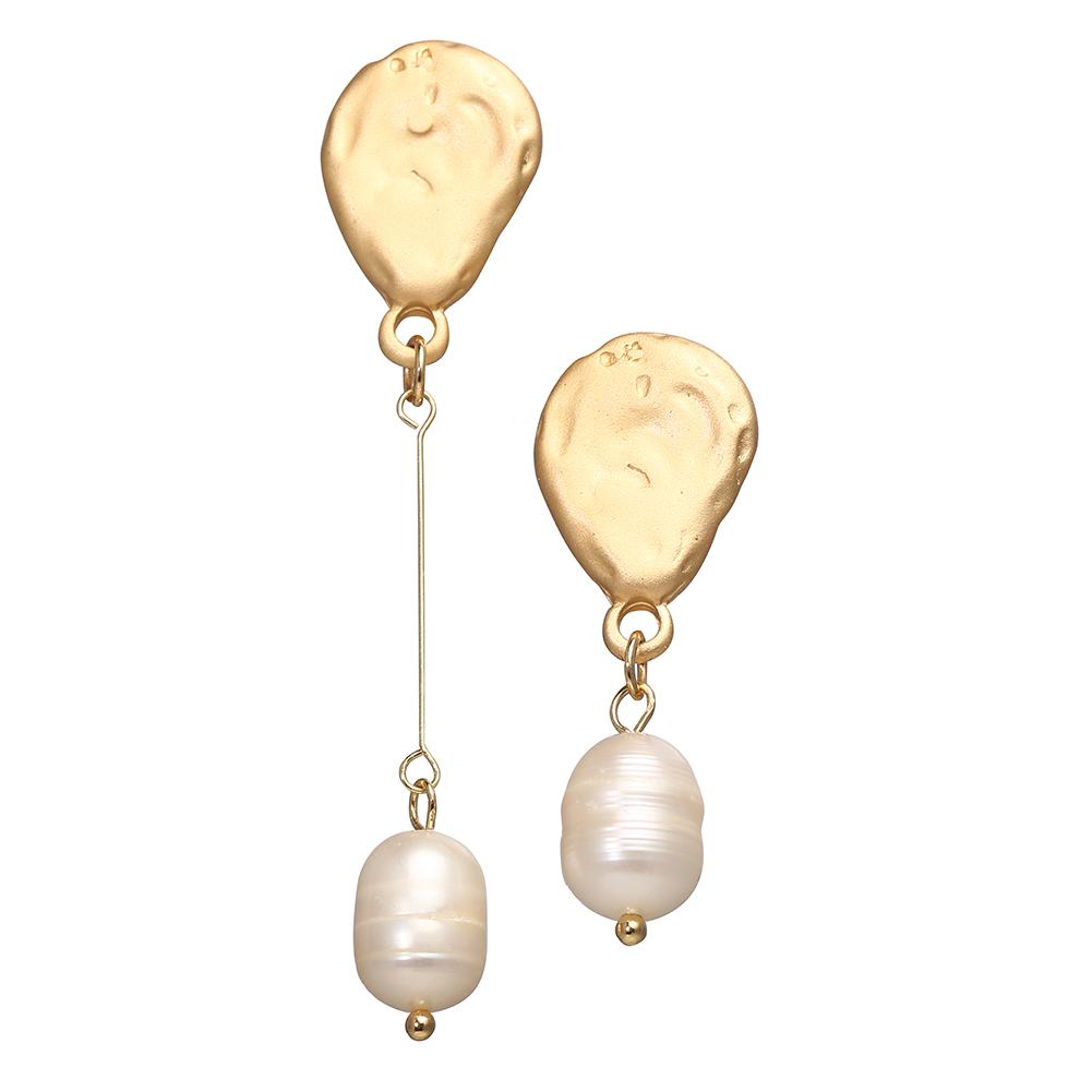 Women Elegant All-matching Vintage Irregular Imitation Pearl Earrings