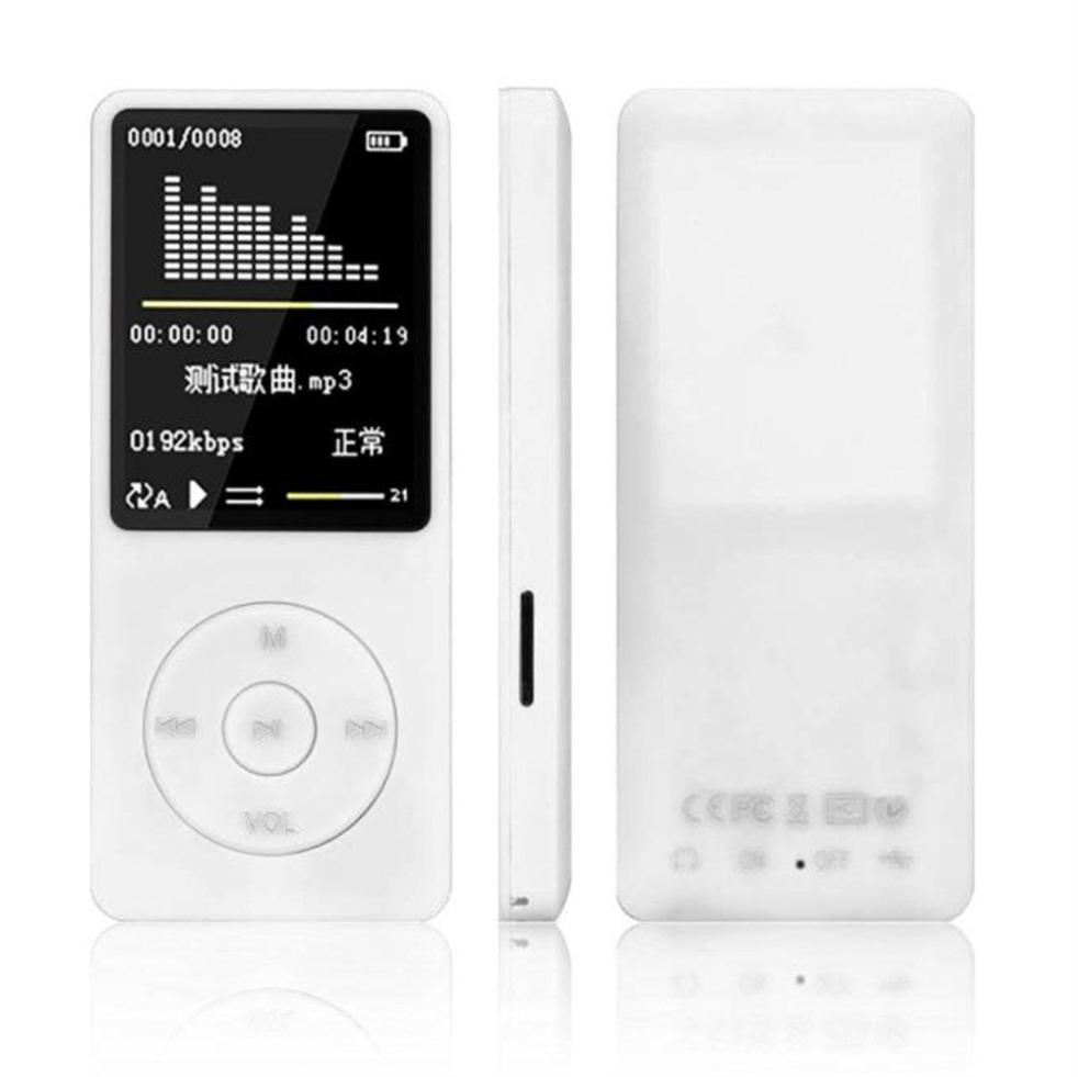 Portable MP4 Lossless Sound Music Player FM Recorder FM Radio Lot Micro TF Card AMV AVI Audiobooks white