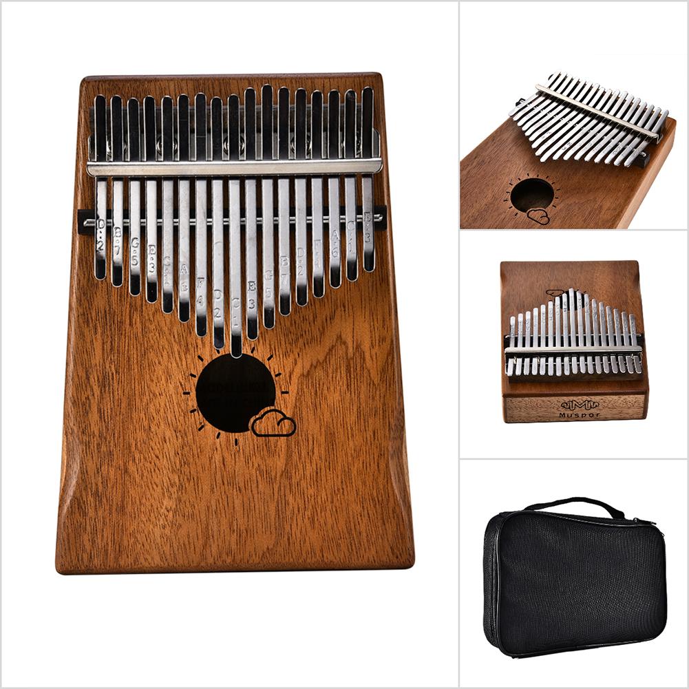 17 Key Kalimba Thumb Piano Kids Adults Music Finger Percussion Keyboard(Sun Cloud) MS17M