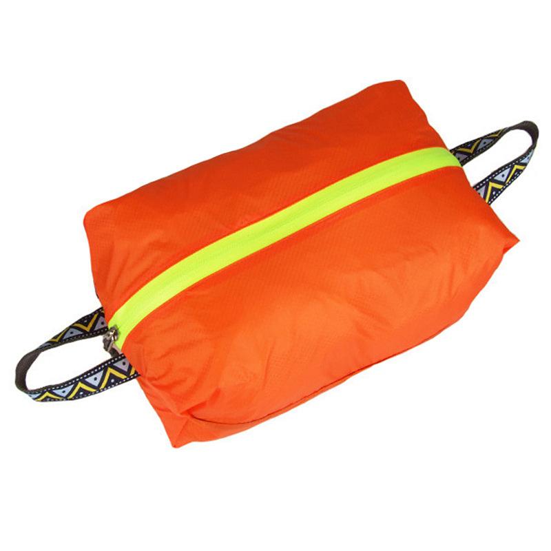 Outdoor Travel Light Shoes XL Storage Bag Portable Waterproof Laundry Storage Bag Wash Bag Orange _XL