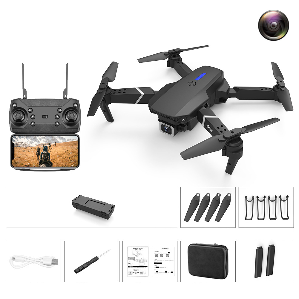 LS-E525 PRO Three Side Obstacle Avoidance HD RC Quadcopter 4K pixels single lens storage bag_2 battery package