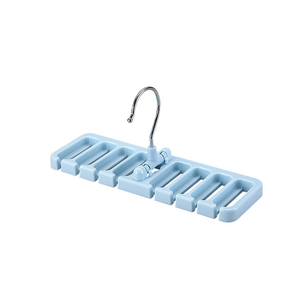 8 Loops Closet Storage Rack Belt Tie Scarf Organizer Hanger Holder Space Saver blue_22.7X7.5X10.8cm