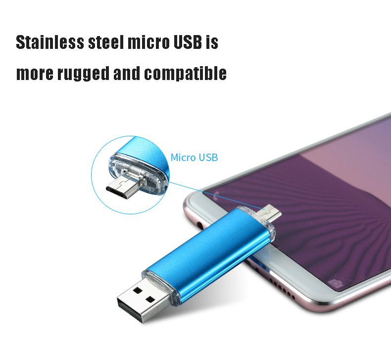 USB Flash Drive Smart Phone USB Flash Drive OTG Pen Drive USB Memory Stick U Disk Micro usb android