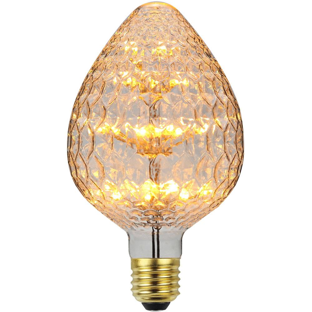 Led Fireworks Lamp Retro Strawberry Shape Light Bulb for Decoration