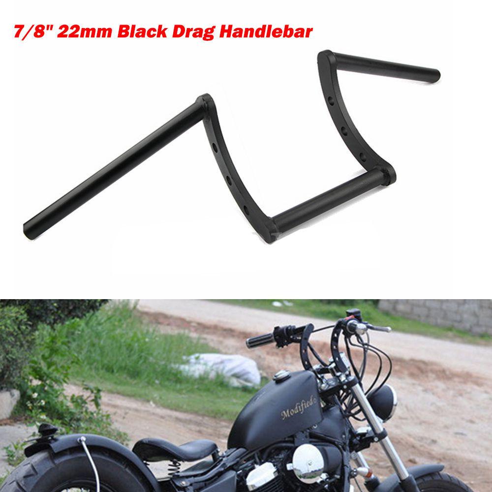 7/8'' 22mm Motorcycle Drag Z-Bar Pullback Handlebar for  Honda black