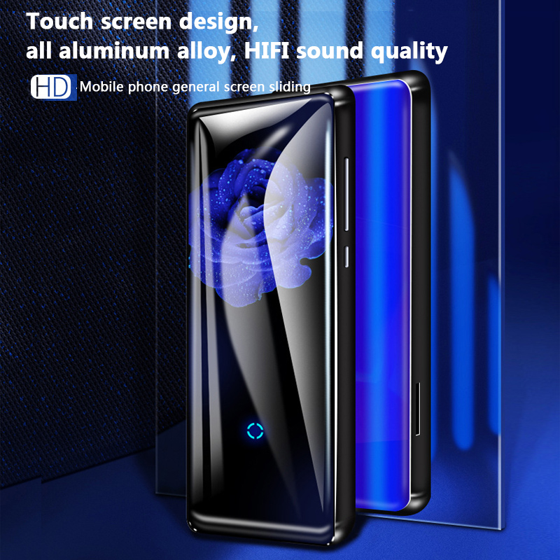 Portable HiFi Bluetooth MP3 Music Player HD Touch Screen Video Player with Speaker FM Radio  Blue 8G
