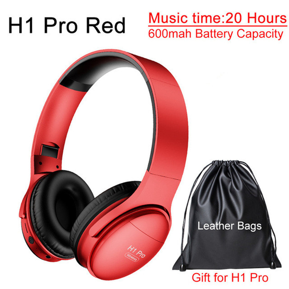 H1 Pro Bluetooth Wireless Headset HIFI Stereo Noise Reduction Gaming Earphone with Microphone H1 pro red