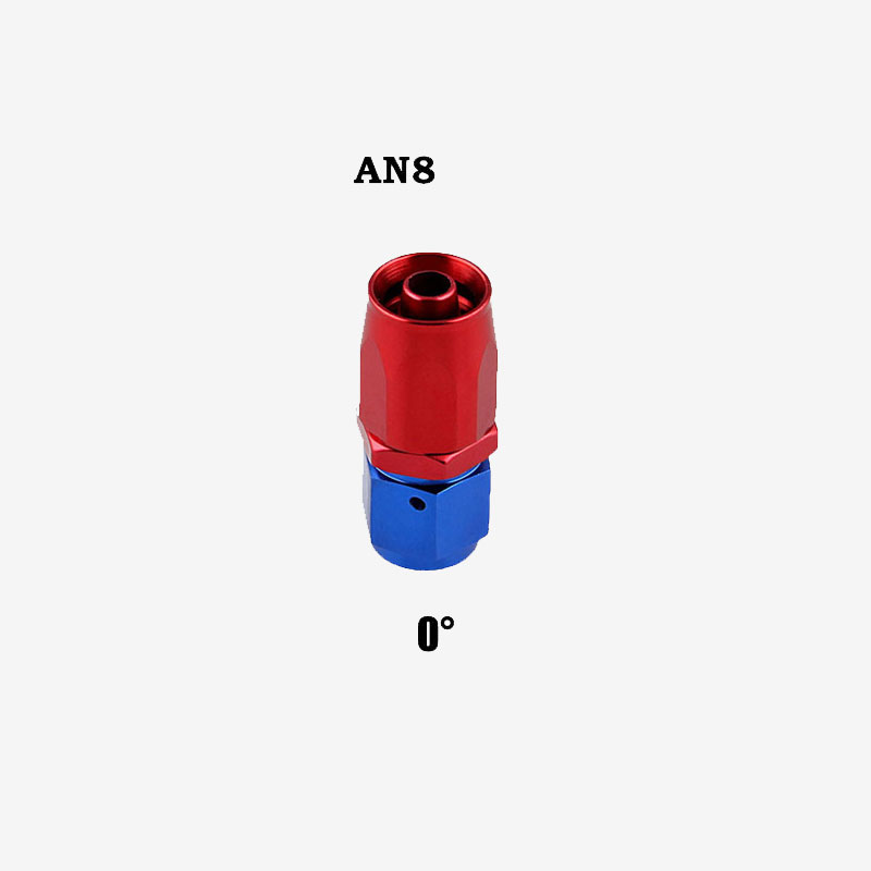 Professional AN8 Swivel Hose End Fitting Adapter for Oil/Fuel/Gas Hose Line 0 degree