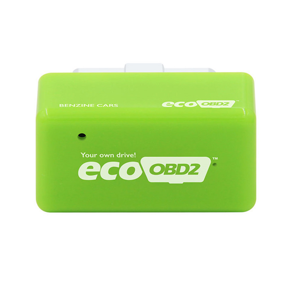 Plug and Drive EcoOBD2 Gasoline Car Fuel Saver ECU Automatically Adjustable green
