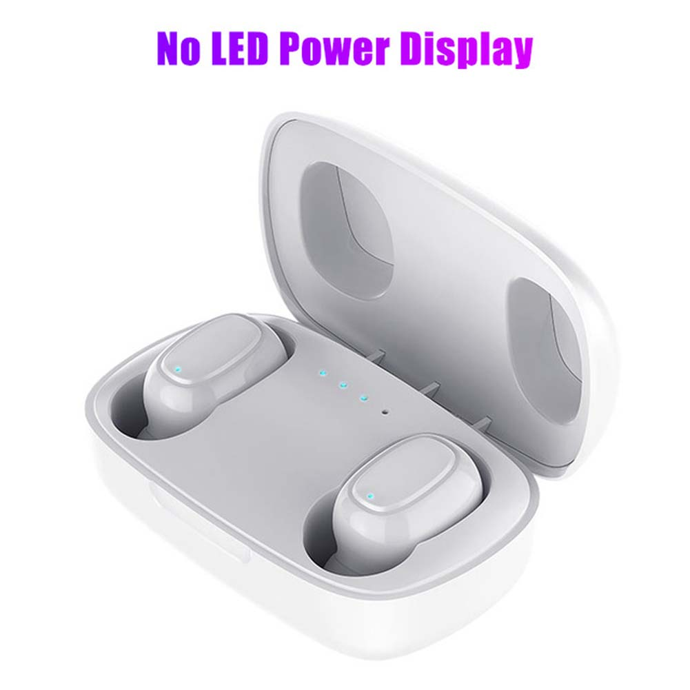 L12 HIFI Wireless Headset Bluetooth 5.0 Dual Sports Headphone 3D Stereo Portable Magnetic with Charging Case white