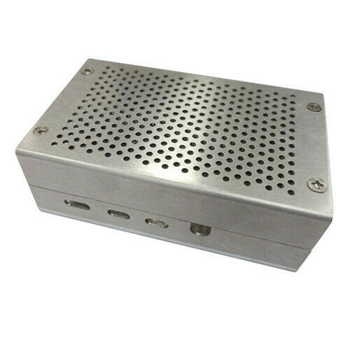 Fit For Raspberry Pi 4 Metal Enclosure Protective Box Shell Case Silver