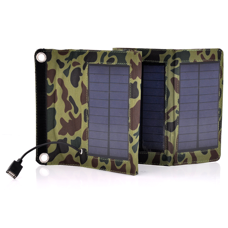 Army Style Camouflage Folding Solar Panel