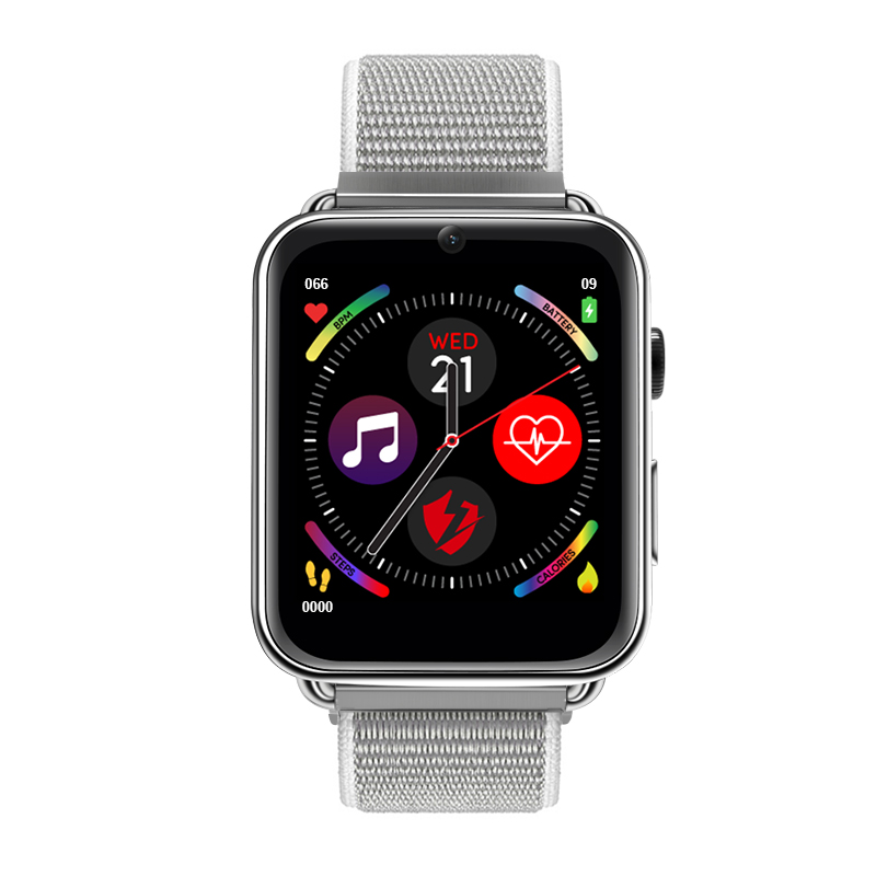 LEMFO LEM10 4G Smart Watch Android 7.1 3G RAM 32G ROM 1.88 inch Big Screen LTE 4G Sim Camera GPS WIFI Heart Rate Leather blue_32GB