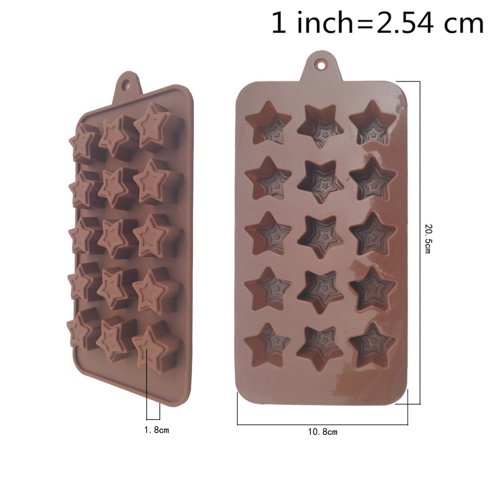 15 Cavity Star Shaped Silicone Mold DIY Tool