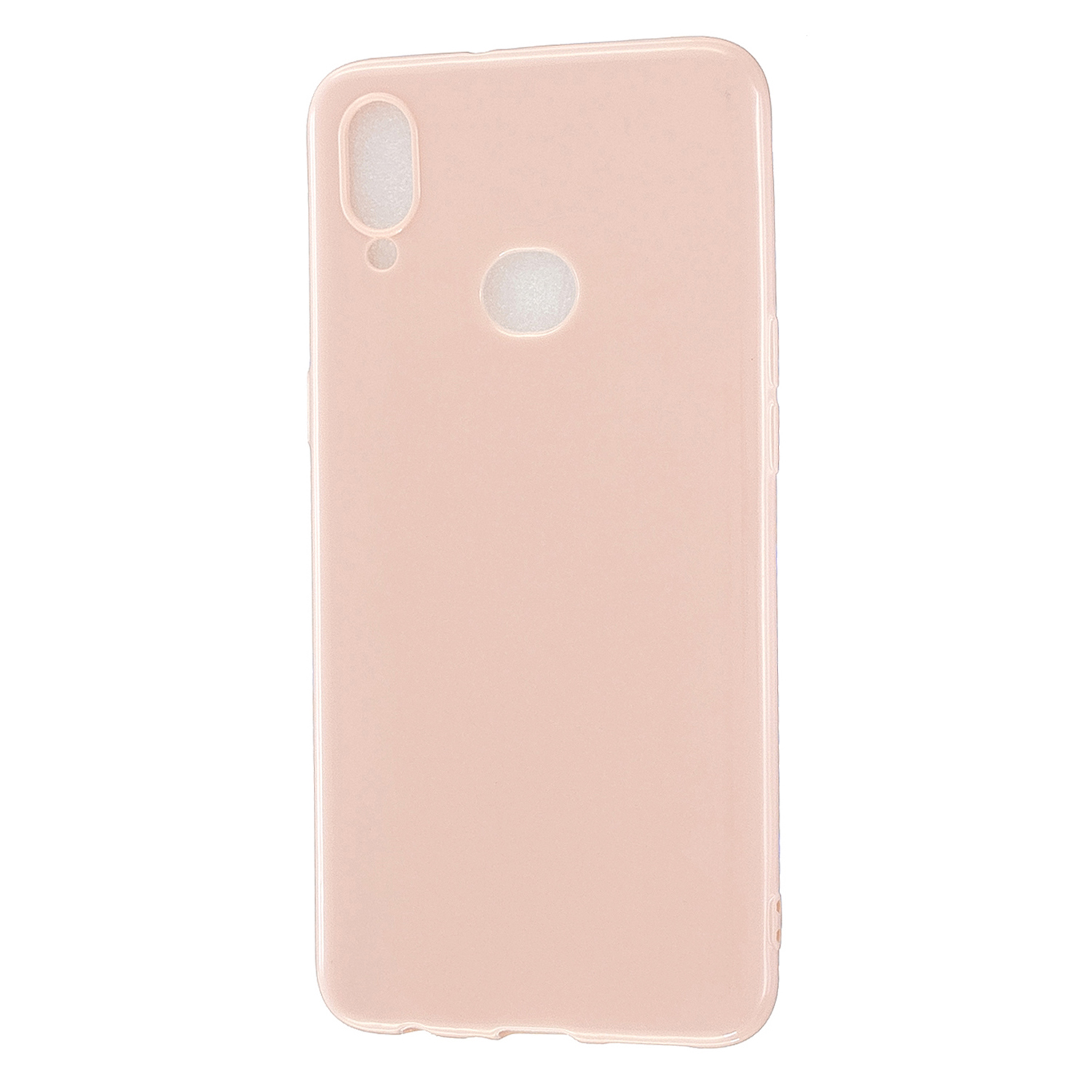 For Samsung A10S/A20S Cellphone Cover Soft TPU Phone Case Simple Profile Full Body Protection Anti-scratch Shell Sakura pink