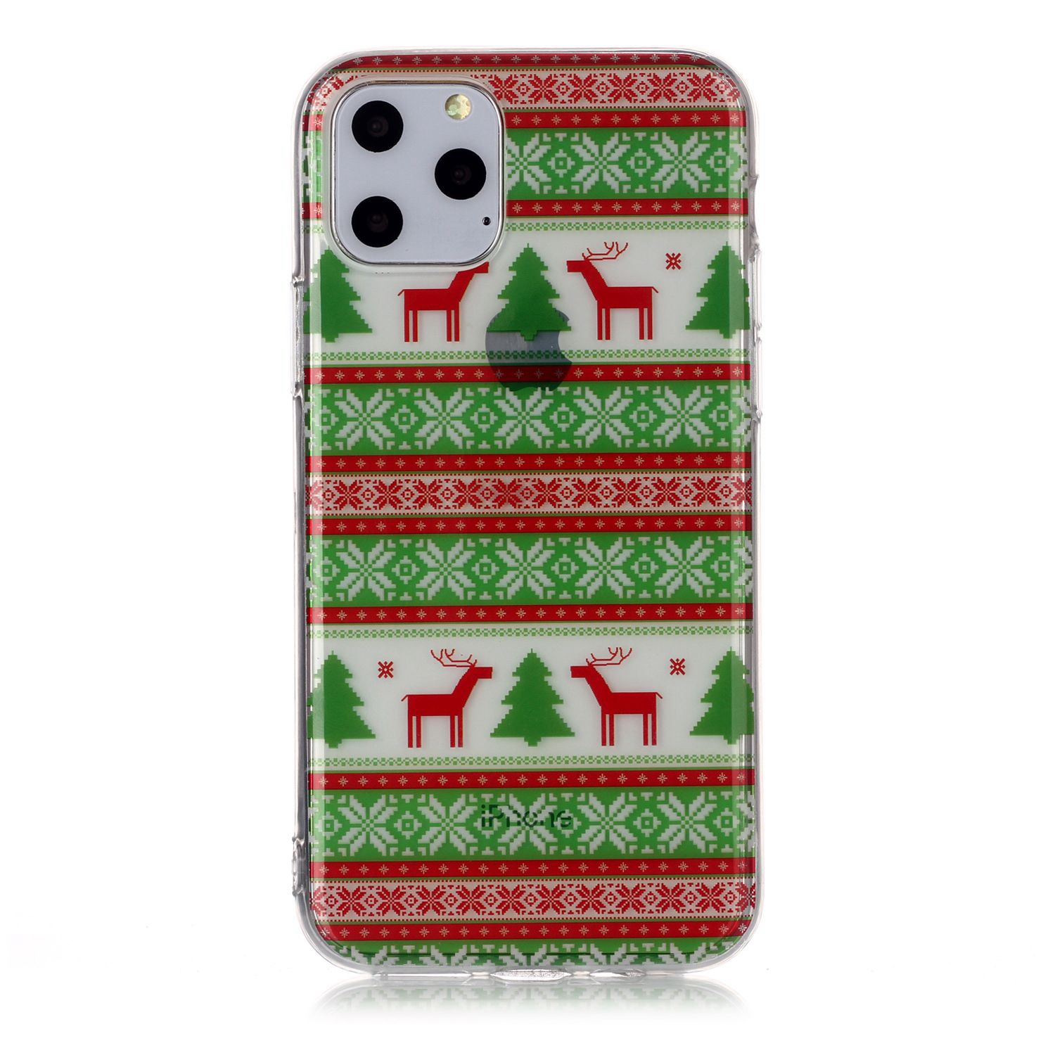 For iPhone11 Pro Cute Cell Phone Case Christmas Gifts TPU Soft Phone Shell