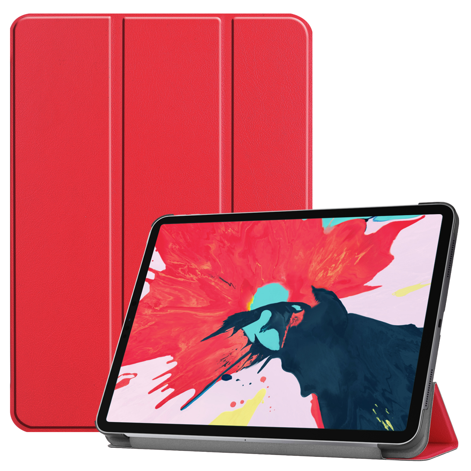 Tablet PC Protective Case Ultra-thin Smart Cover for iPad pro 11(2020) red