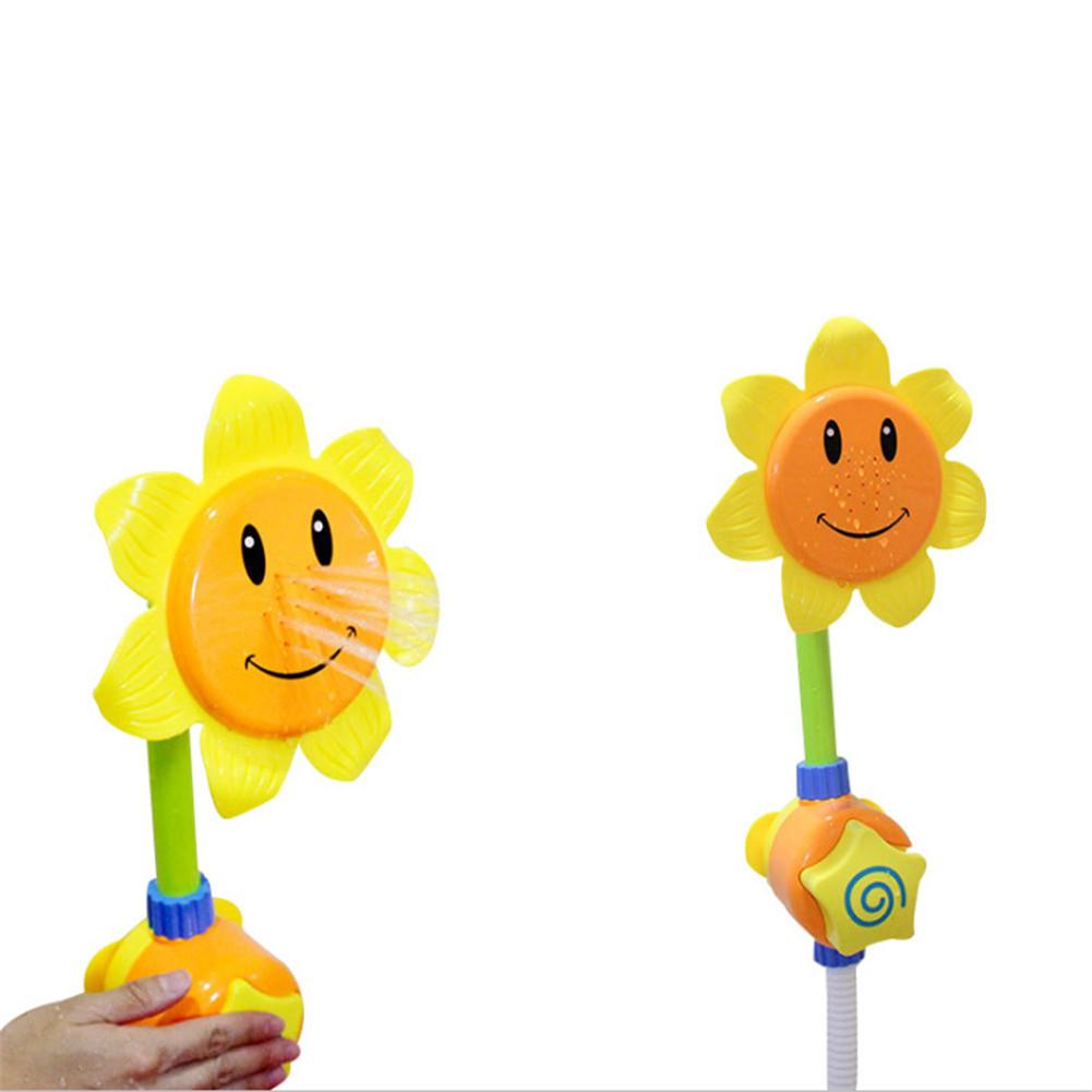 Baby Cartoon Sunflower Shape Shower Faucet Spray Water Swimming Bathroom Bath Toy OPP bag / random color
