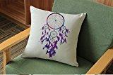 Decorative Hand Painted Dream Catcher Printing Pillow Case No Pillow 45*45cm