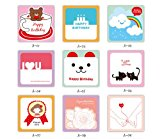 ONOR-Tech Pack of 18 Sweet Cute Lovely Greeting Birthday Mini Cards with Envelope for Wedding, Birthday Party