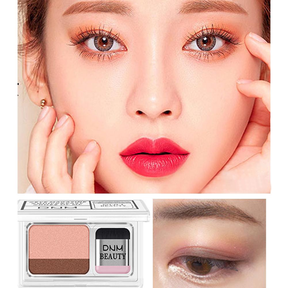 Two-color Eyeshadow Waterproof Not Blooming Long-lasting Eyeshadow Palette
