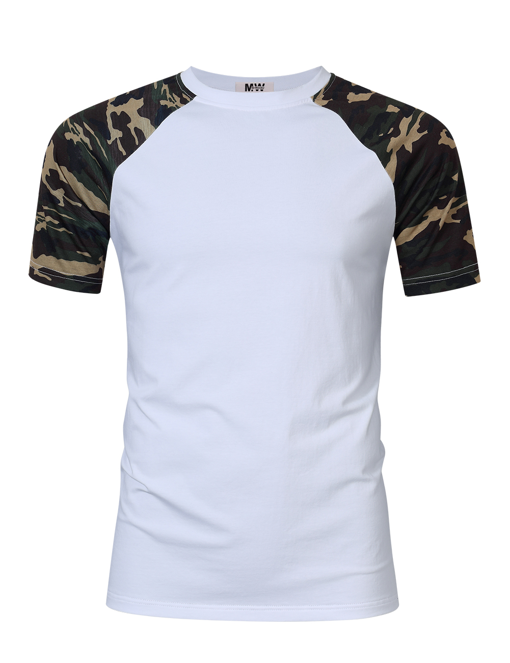 [US Direct] MrWonder Men Cotton Camouflage Short Sleeve Slim Fit Baseball T-Shirt