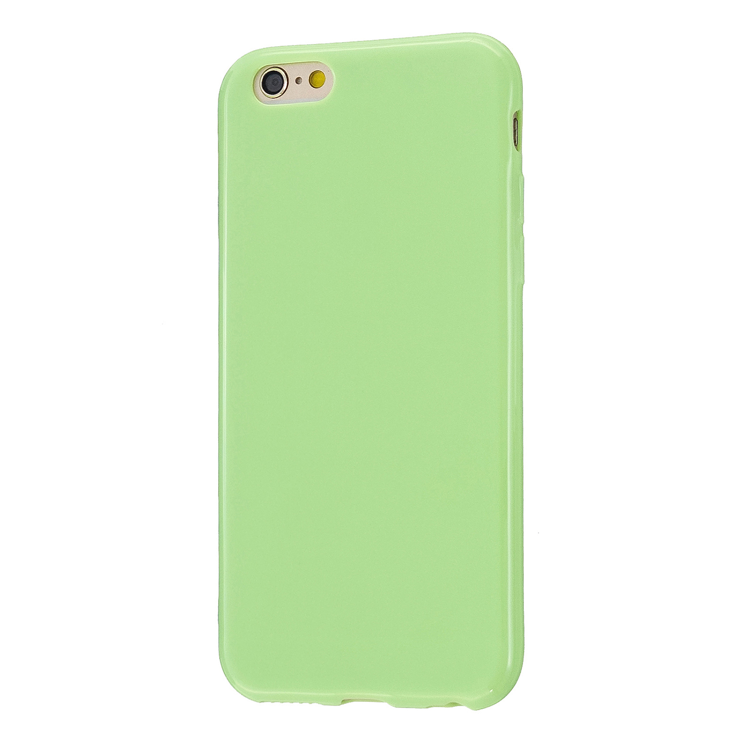 For iPhone 5/5S/SE/6/6S/6 Plus/6S Plus/7/8/7 Plus/8 Plus Cellphone Cover Soft TPU Bumper Protector Phone Shell Fluorescent green