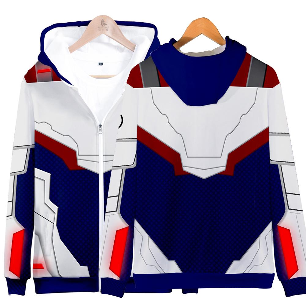 Avengers Endgame 4 Quantum Suit 3D Printing Hoodies Sweatshirt Cosplay Sweater Jacket Coat Q-3830-YH07_L