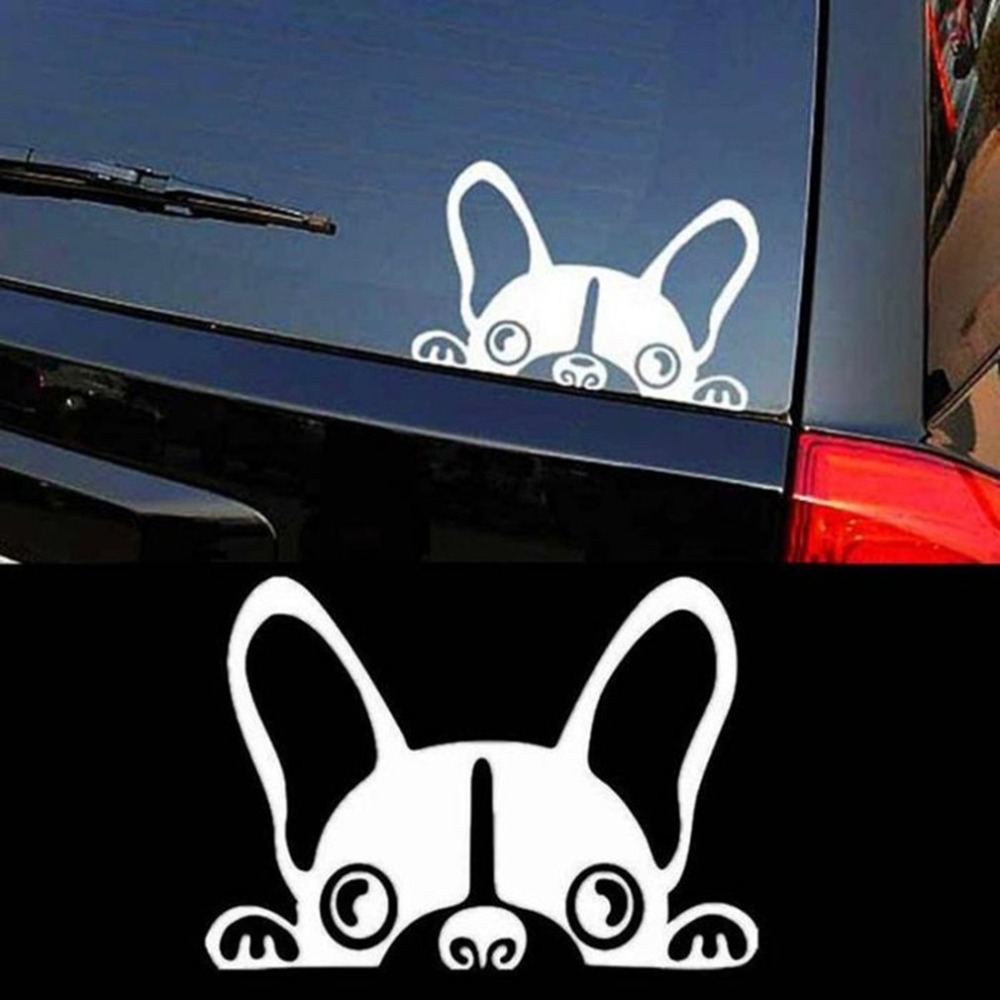 Lovely Cute Guardian Dog Pattern Car Sticker Scratches Cover Decals White