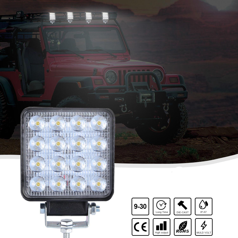 4inch Super Slim Square 160W Spotlight Beam Led Work Light Driving Fog Lights