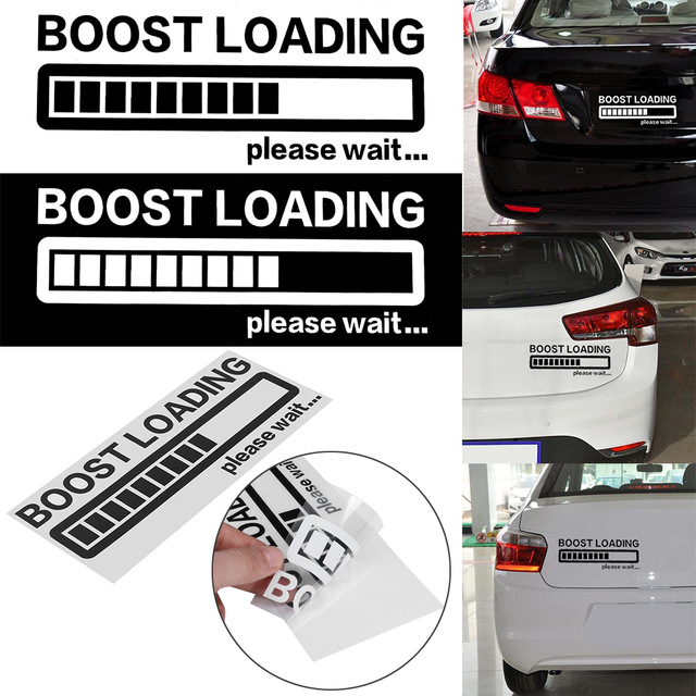 Boost Loading Car Sticker Fashion Reflective  black