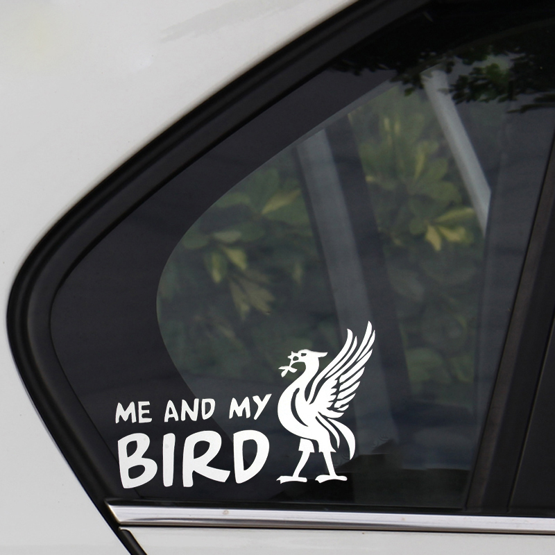Funny ME AND MY BIRD Letters Printed Car Decoration Decals White