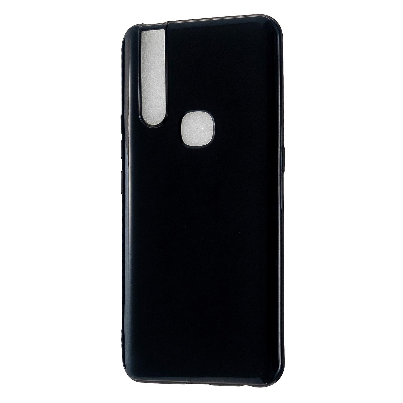 For VIVO V15/V15 Pro Cellphone Cover Slim Thin TPU Case Shock Absorption Mobile Phone Protective Cover  Bright black